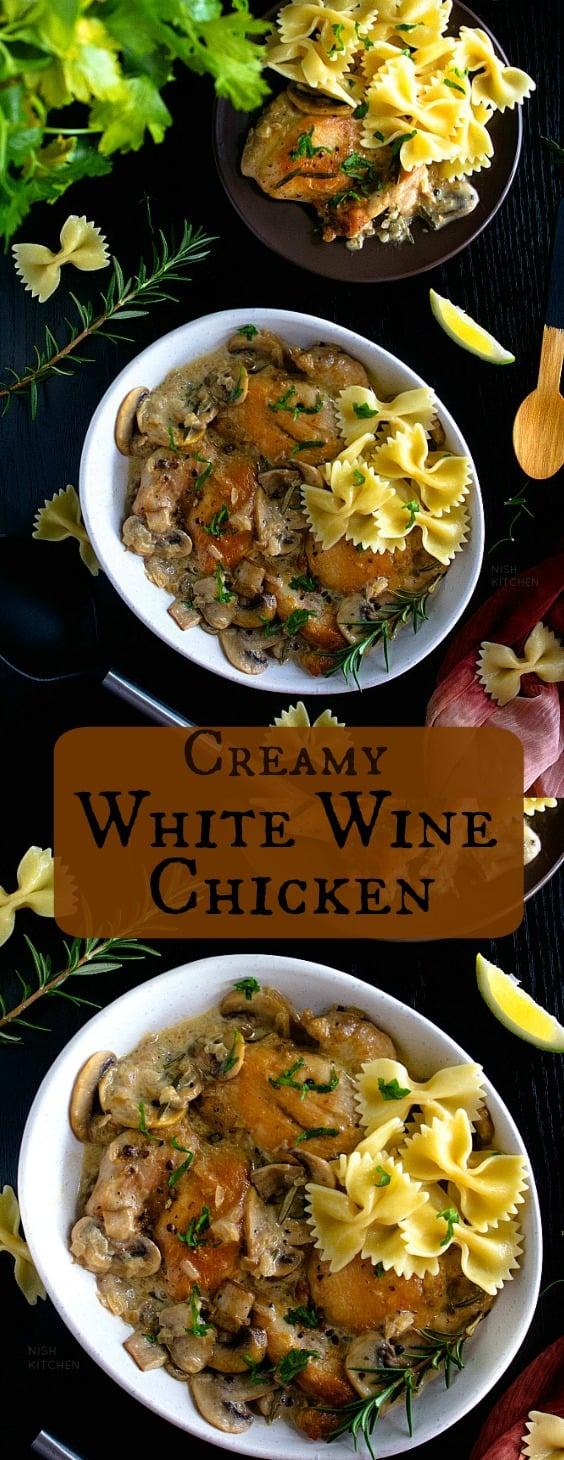 Creamy white wine chicken
