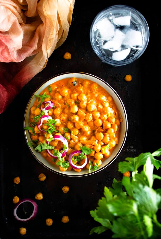 Indian butter chickpeas recipe