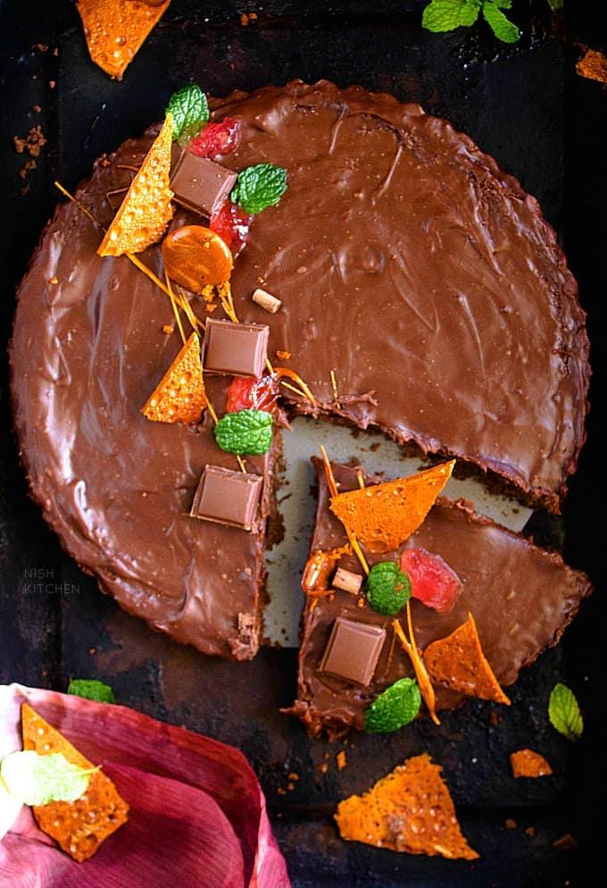 4 ingredient no bake chocolate tart recipe