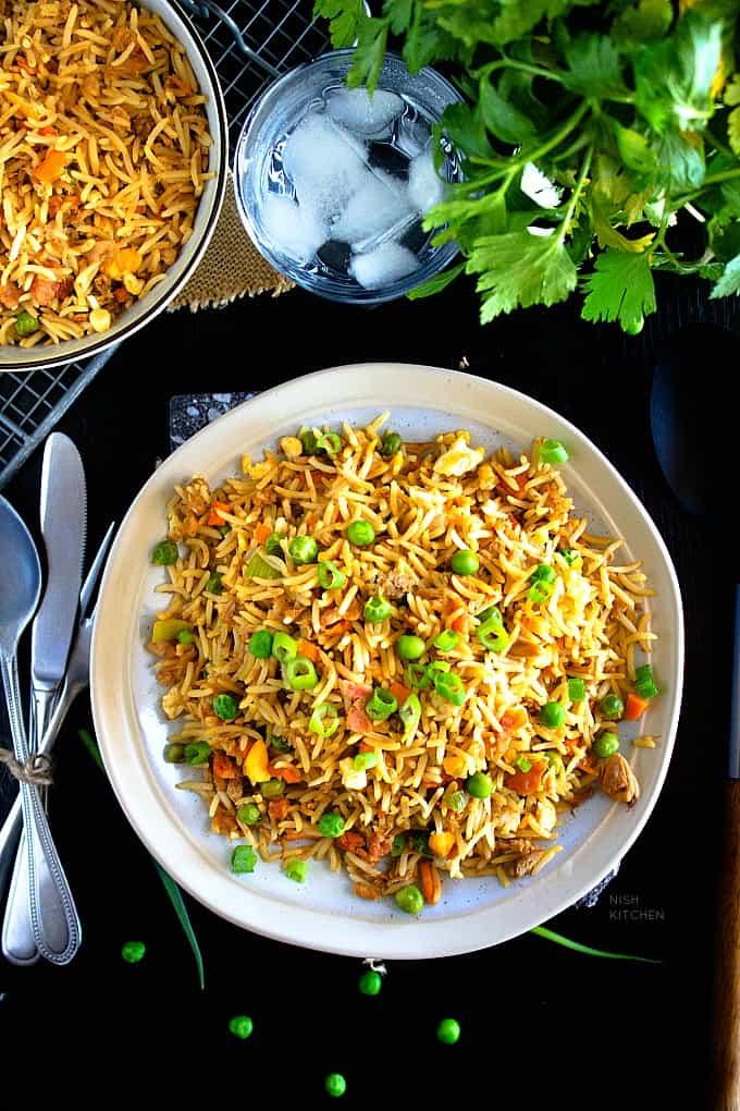 tuna and egg fried rice