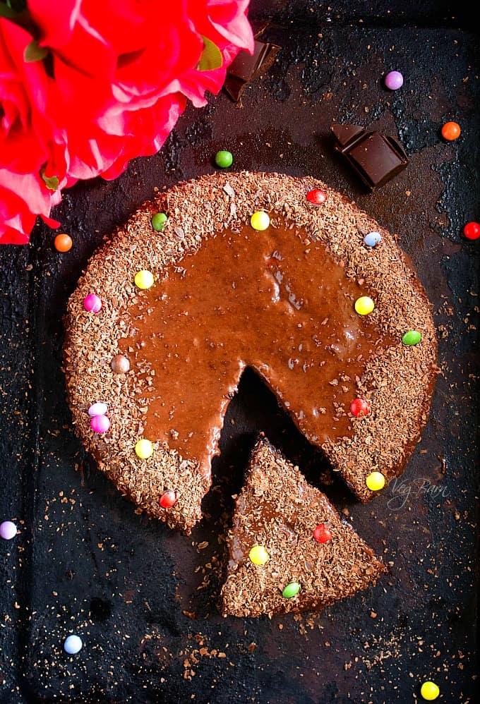 3 Ingredient Chocolate Cake No Eggs Nish Kitchen