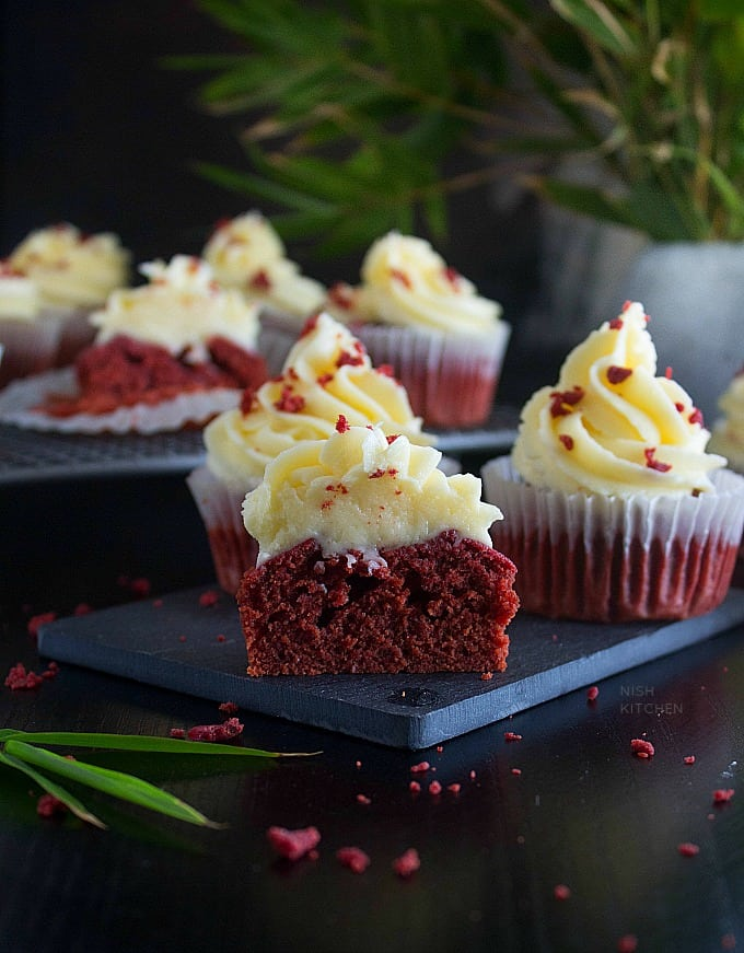 red velvet cupcake with beetroot