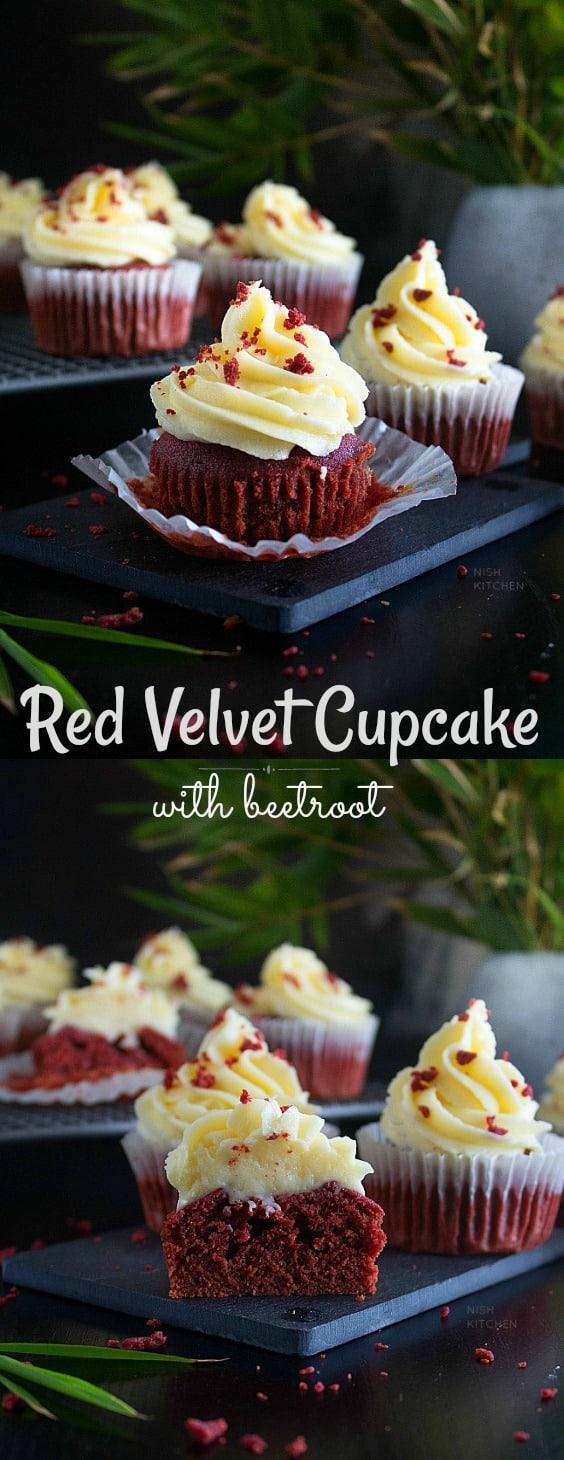 Beet Red Velvet Cupcake