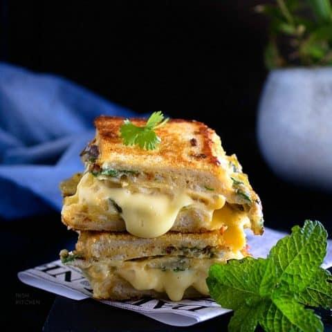 One pan egg toast recipe video