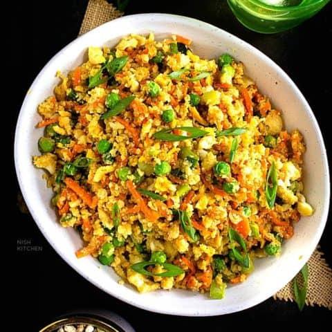 cauliflower fried rice recipe video