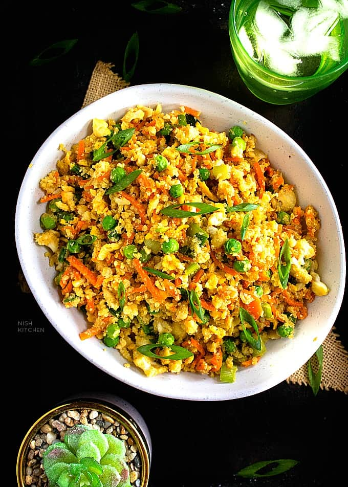 cauliflower fried rice recipe video