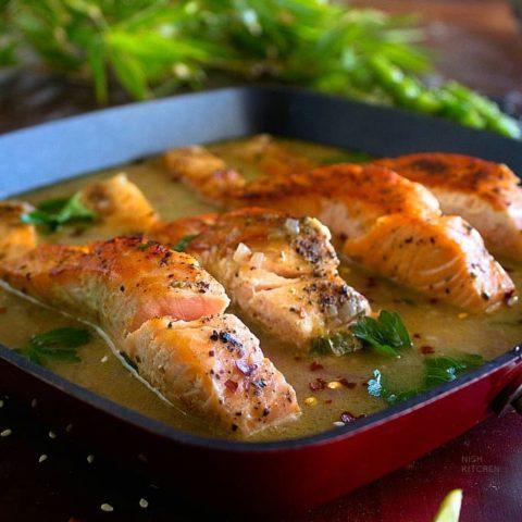 Creamy Coconut Lime Salmon recipe video