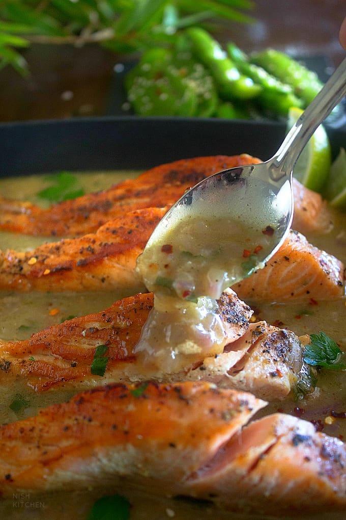 Creamy Coconut Lime Salmon Recipe