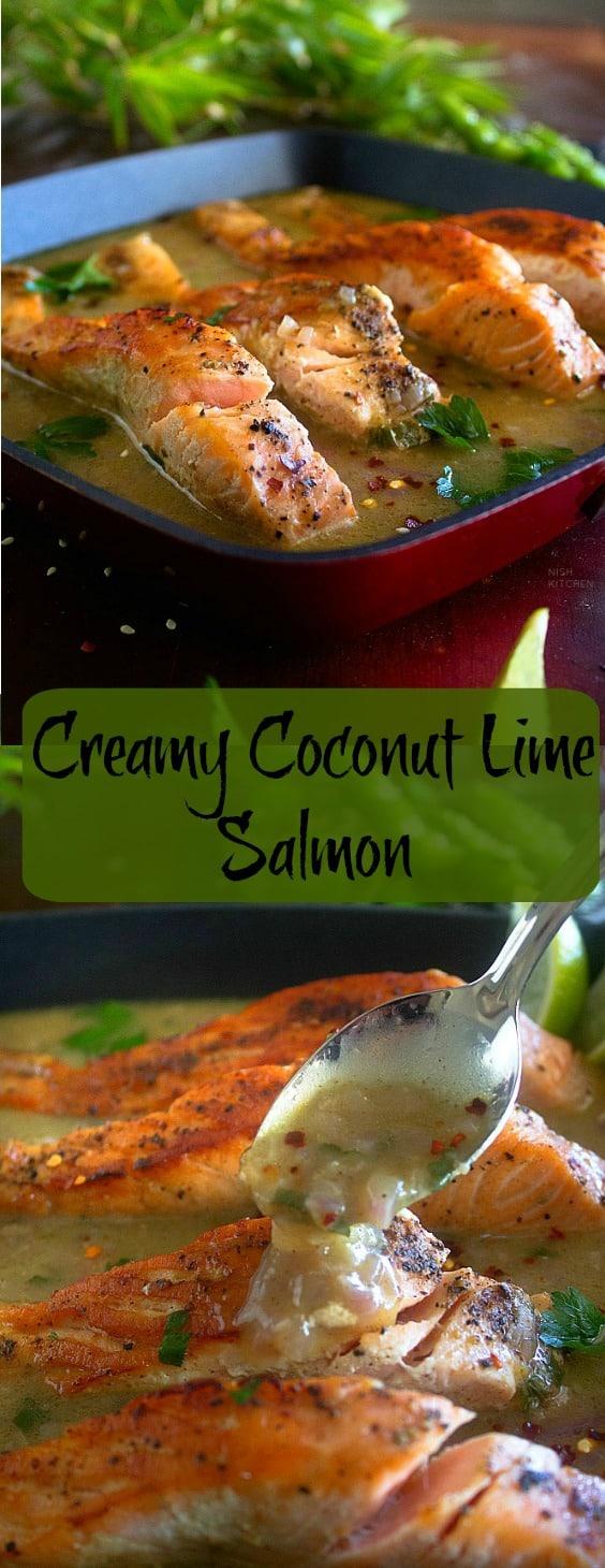 Creamy Coconut Lime Salmon