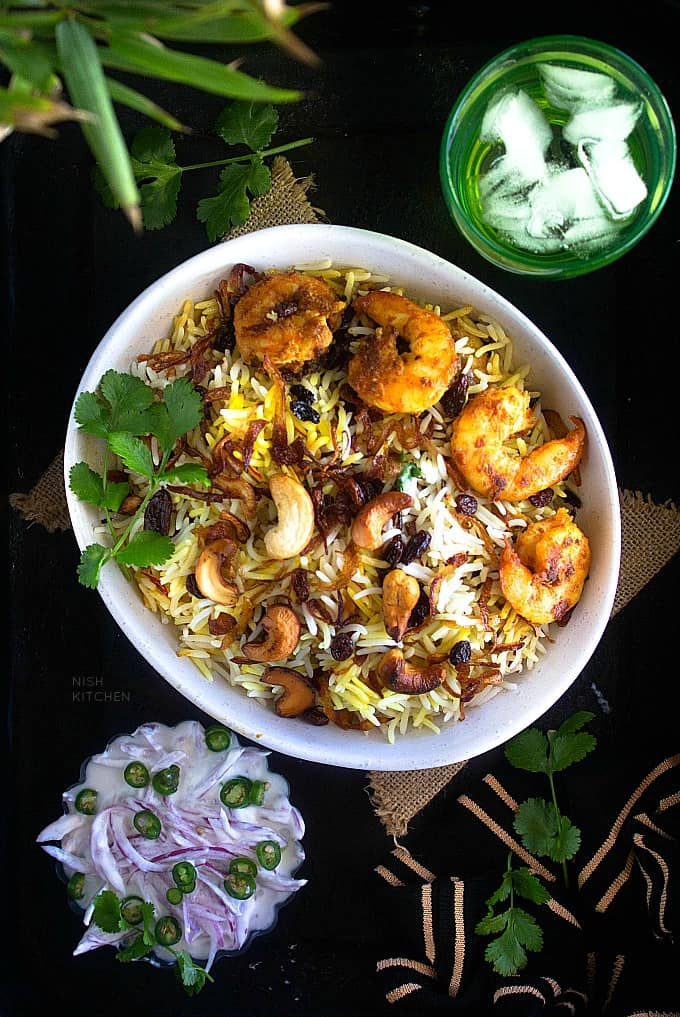 shrimp biryani recipe video