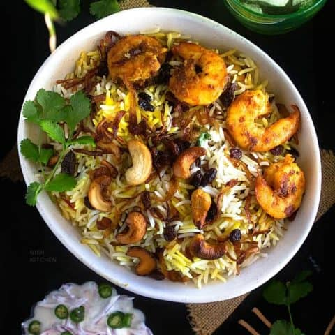 prawn biryani recipe video