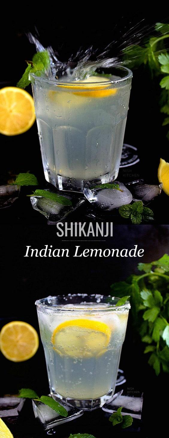 Shikanji or Indian lemonade