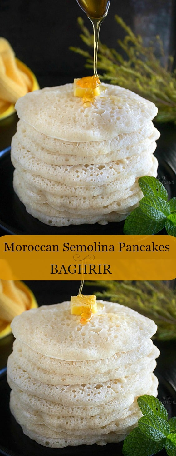 Baghrir or Moroccan Pancakes