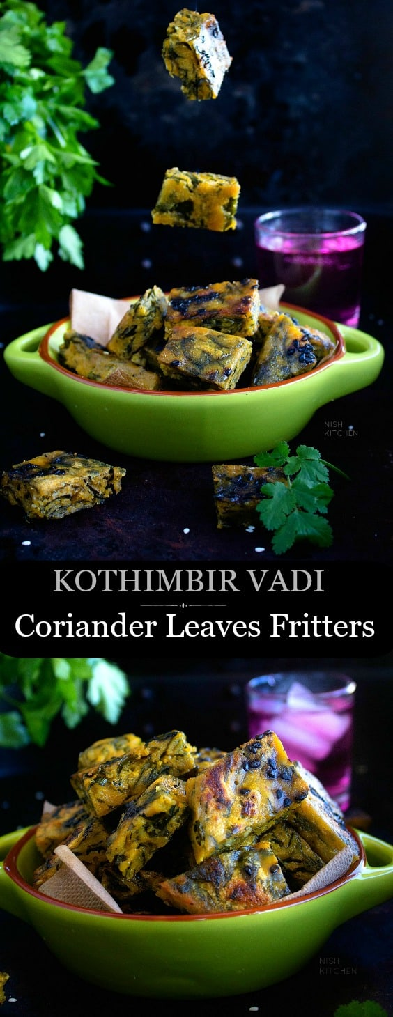 Kothimbir Vadi or Coriander Leaves Fritters