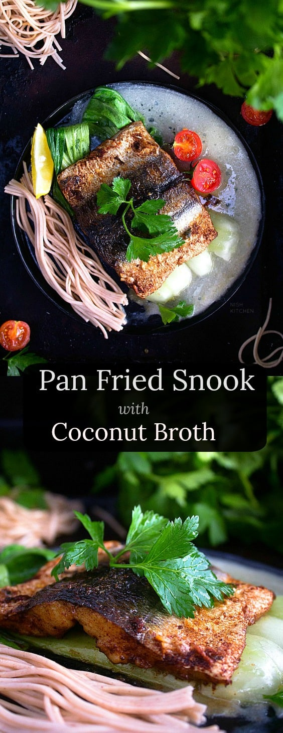 Pan Fried Snook with Coconut Broth