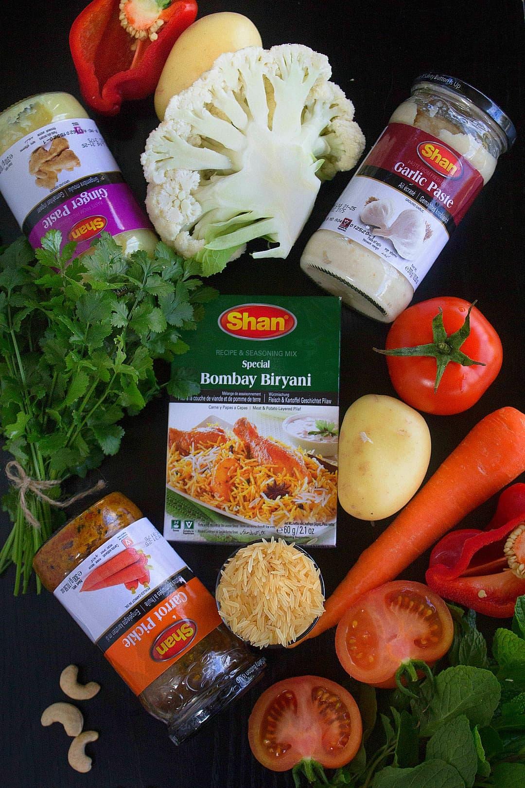 Bombay Veg Biryani Ingredients