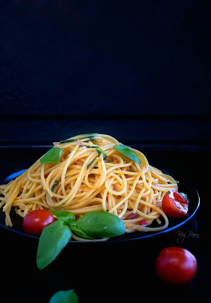 Brushetta Spaghetti