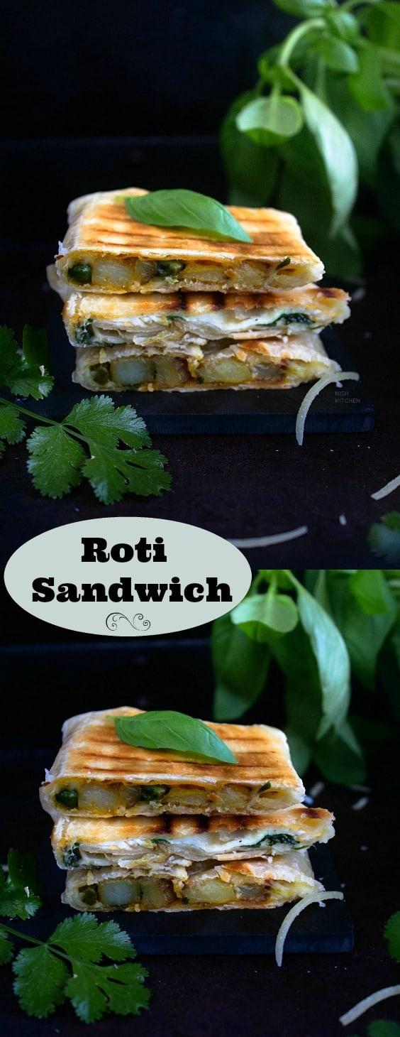 Roti sandwich 2 Ways