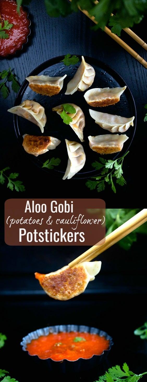 Indian Style Aloo Gobi Potstickers