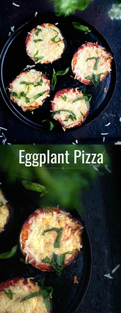 Healthy low carb eggplant pizza