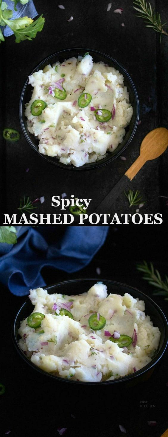 Spicy Mashed Potatoes   Aloo Pitika
