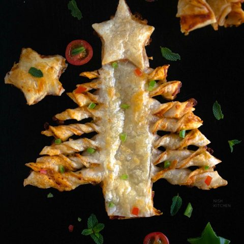 Puff Pastry Christmas Tree Pizza Recipe Video