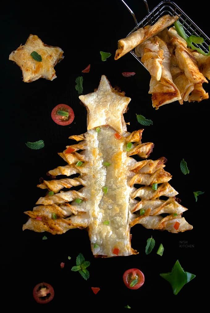 Puff Pastry Christmas Tree Pizza Recipe