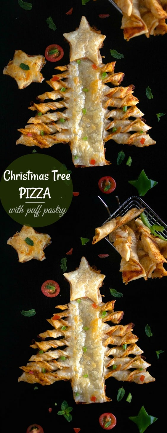 Puff Pastry Christmas Tree Pizza