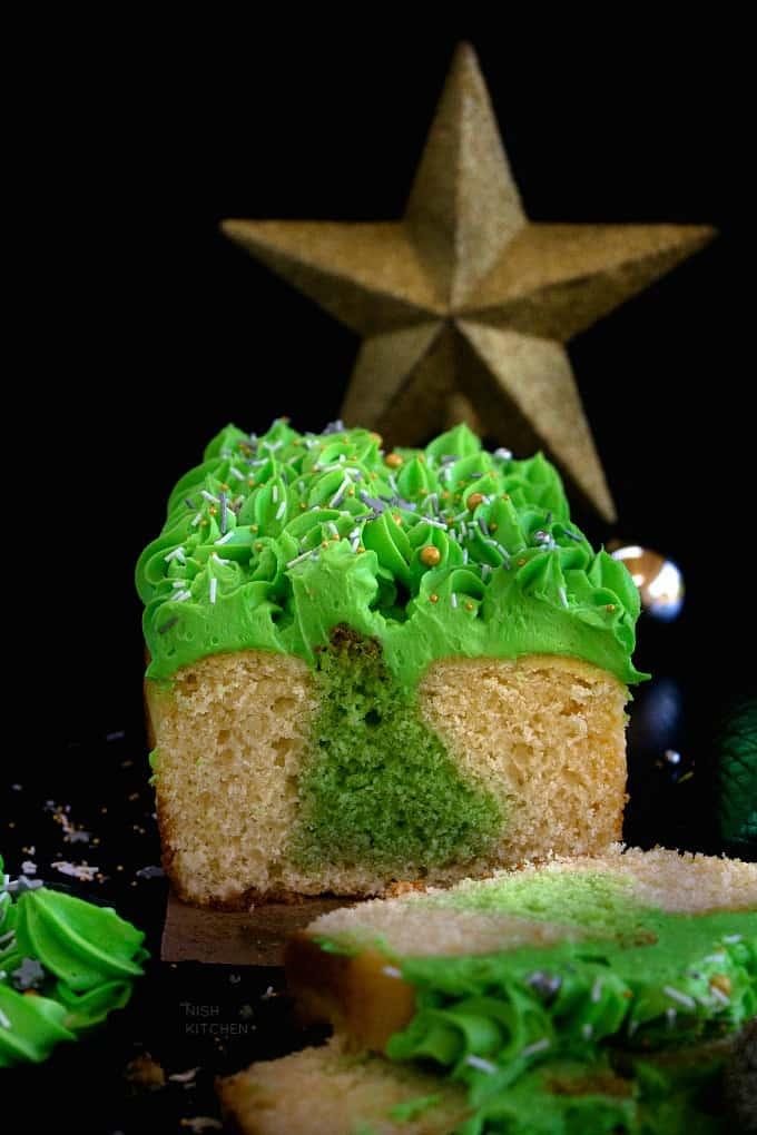 Surprise Inside Christmas Tree Cake Recipe Video