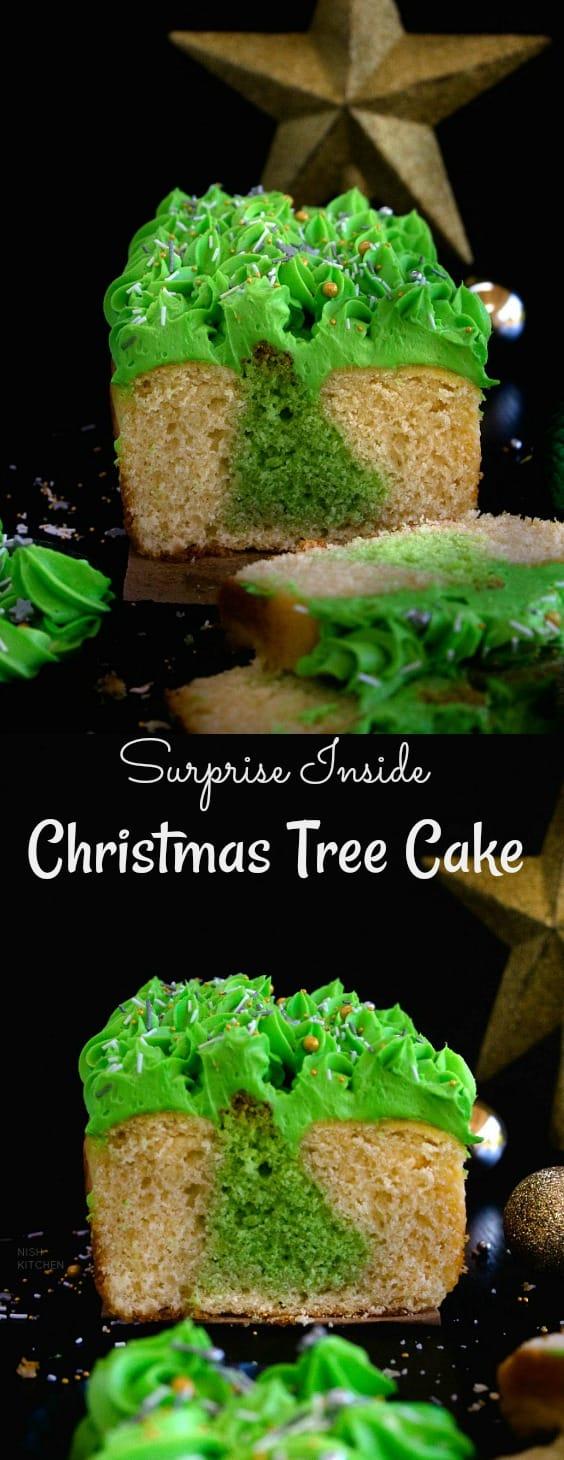 Surprise Inside Christmas Tree Cake