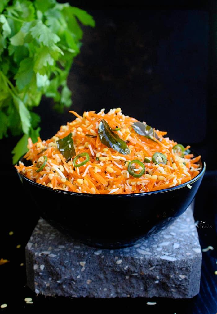Carrot Kosambari Recipe