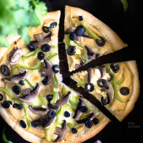 Hummus Pizza Recipe Video