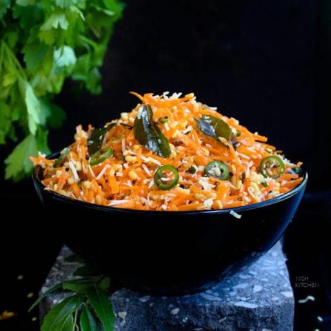 Carrot kosambari or Indian Carrot Salad Recipe Video