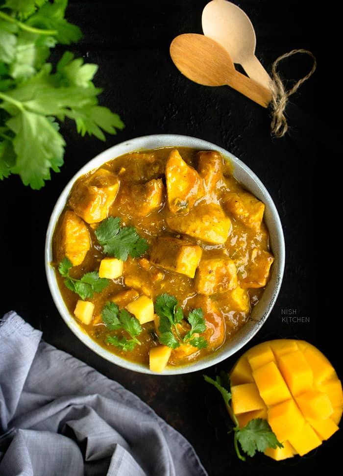 Mango Coconut Chicken Curry