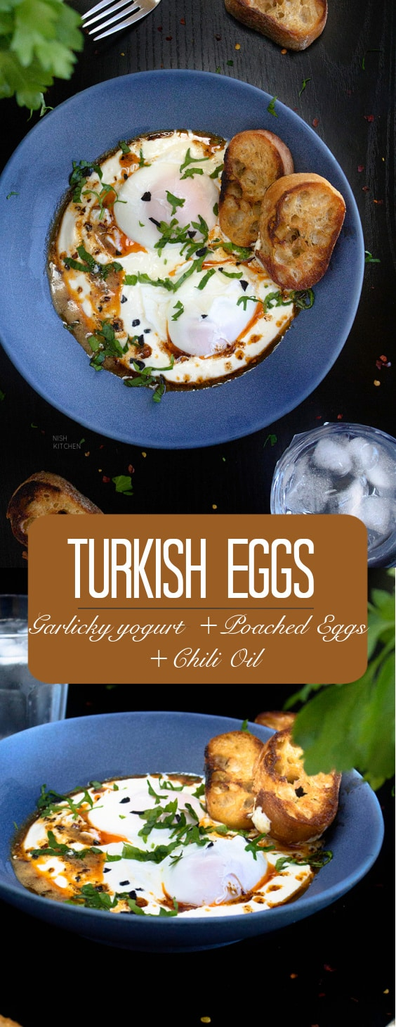 Turkish Eggs with Yogurt and Chili Butter