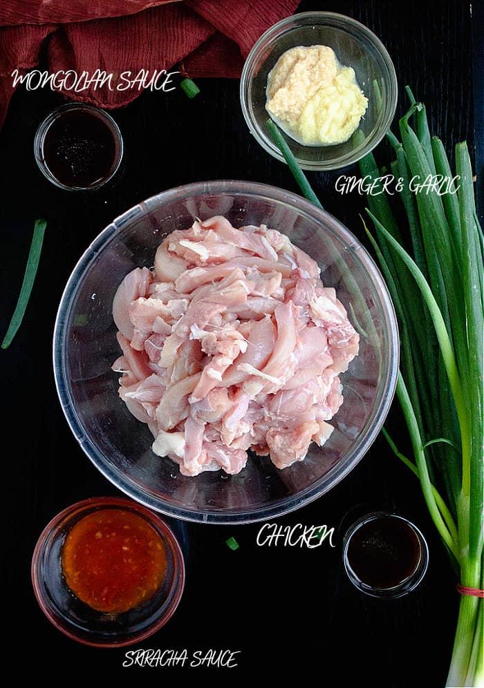 Mongolian chicken ingredients