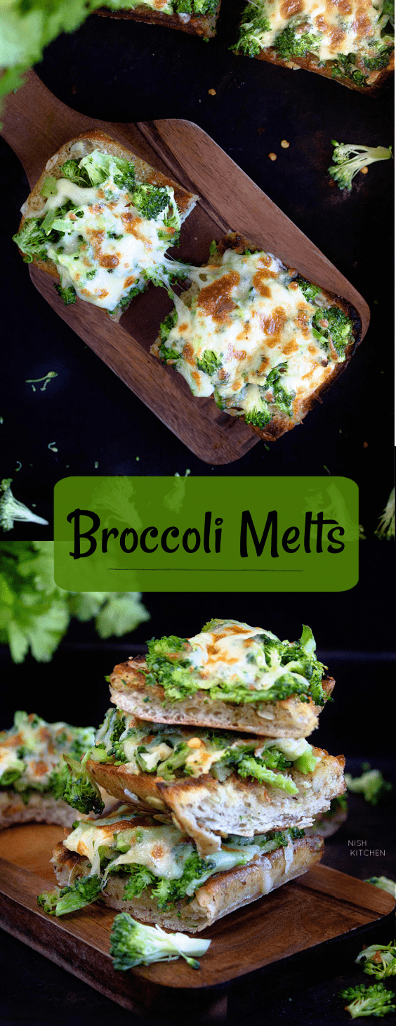 Broccoli Melts - Broccoli with Melted Cheese