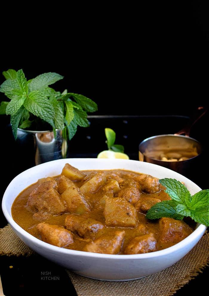 Thai style massaman curry