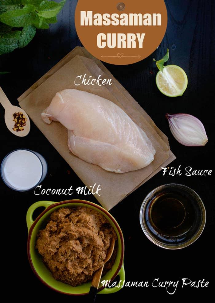 Massaman Curry Ingredients