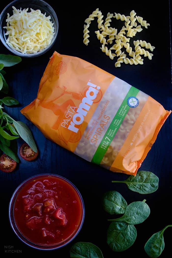 Tomato Pasta Ingredients