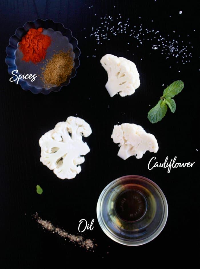 Ingredients for cauliflower steaks
