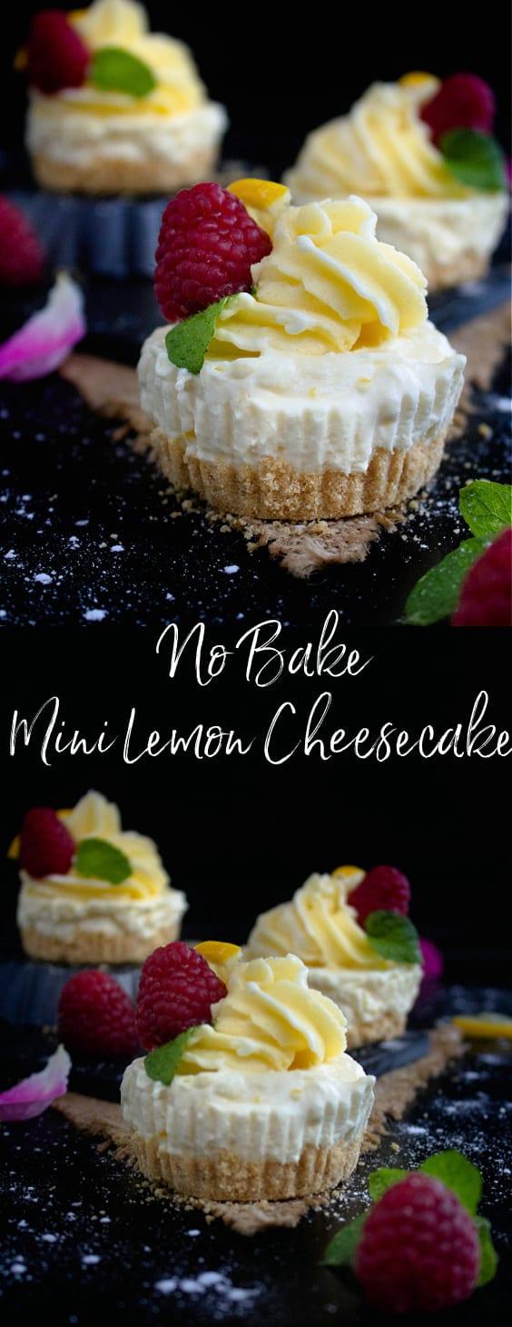 No Bake Mini lemon Cheesecake