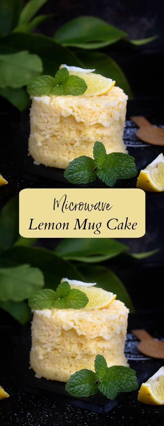 Easy Microwave lemon Mug Cake