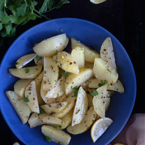 Greek lemon potatoes recipe video