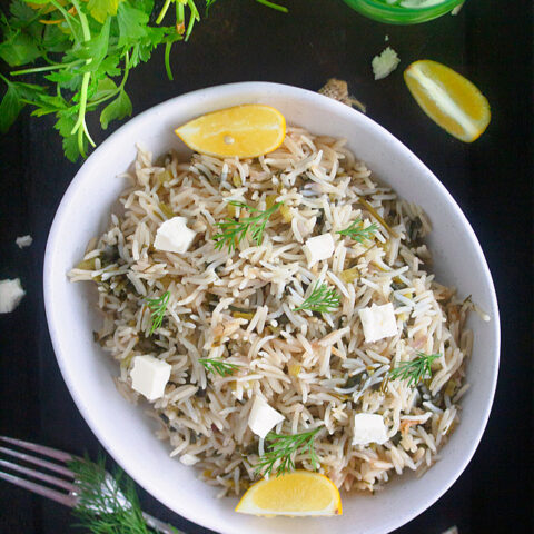 Greek Spinach Rice r Spanakorizo Recipe Video