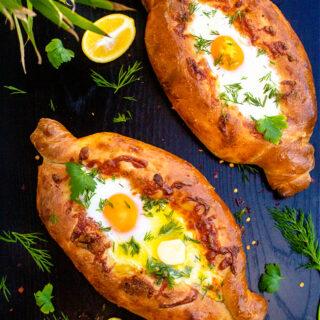 Kachapuri or Georgian Cheese Bread Recipe Video