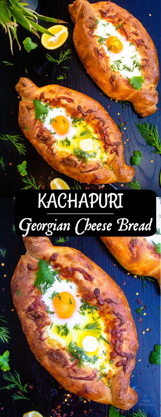 Kachapuri or Georgian Cheese Bread