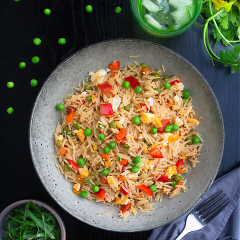 Microwave Egg Fried Rice Recipe Video