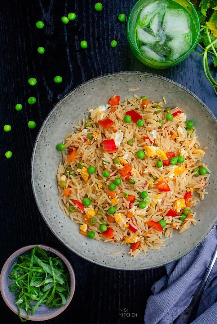 Microwave Egg Fried Rice Recipe