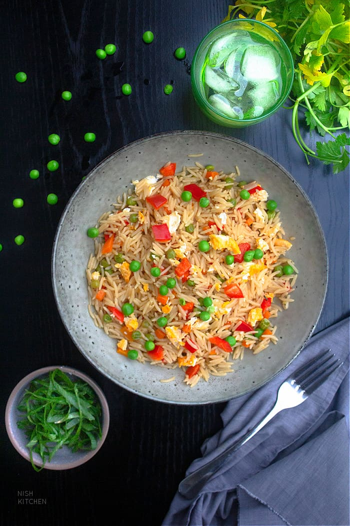 Microwave fried rice recipe